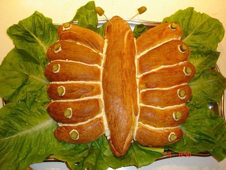 Ζύμη μπριός με γέμιση τονοσαλάτα ή κοτοσαλάτα...
