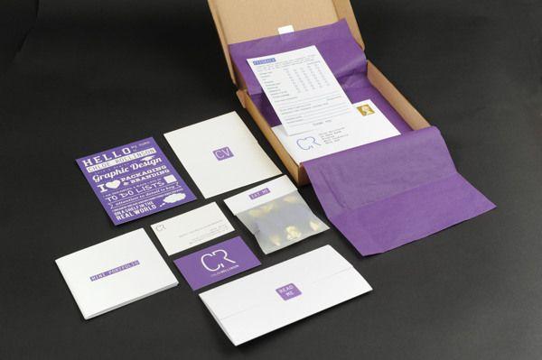 Self Promo by Chloe Rollinson, via Behance    self promo box, with everything included (CV, business card, mini portfolio etc...)