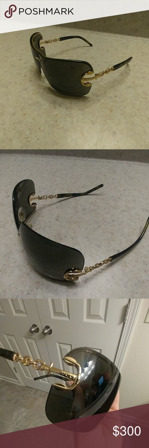 Authentic Gucci Sunglasses The sunglasses are in very good condition no scratches or damage the authentic number code inside is a bit faded from the wear and I don't have the case anymore over all they are very beautiful. Gucci Accessories Sunglasses