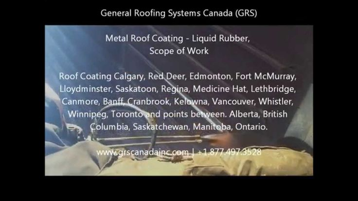 Metal Roof Coatings / Liquid Rubber - Video Showing Scope of Work.  Metal Roof Coatings Edmonton, Calgary, Red Deer, Fort McMurray, Lloydminster, Saskatoon, Regina, Medicine Hat, Lethbridge, Canmore, Banff, Cranbrook, Kelowna, Vancouver, Whistler, Winnipeg, Toronto and points between. Alberta, British Columbia, Saskatchewan, Manitoba, Ontario.  #MetalRoofCoatings   #MetalRoof   #LiquidRubber