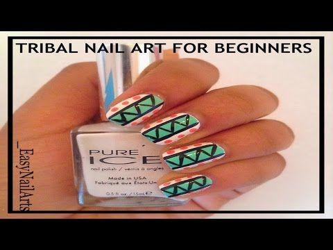 Tribal Nail Art For Beginners ! - http://www.nailtech6.com/tribal-nail-art-for-beginners-2/