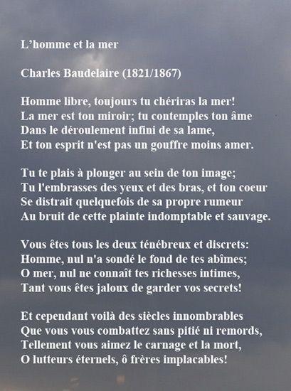 l'homme et la mer- Baudelaire