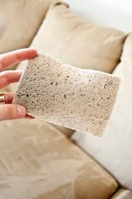 How to clean microfiber couch Spray with alcohol, rub stain with sponge, let dry, refluff with bristle brush