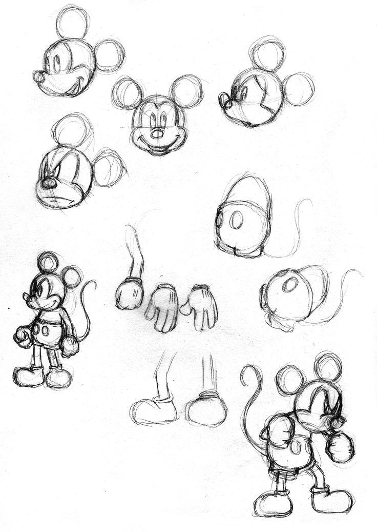 bocetaje de Mickey