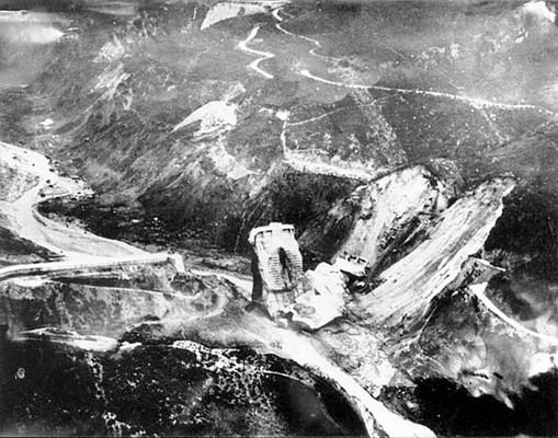 The St. Francis Dam after the collapse