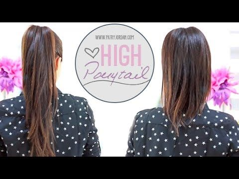 High ponytail how to