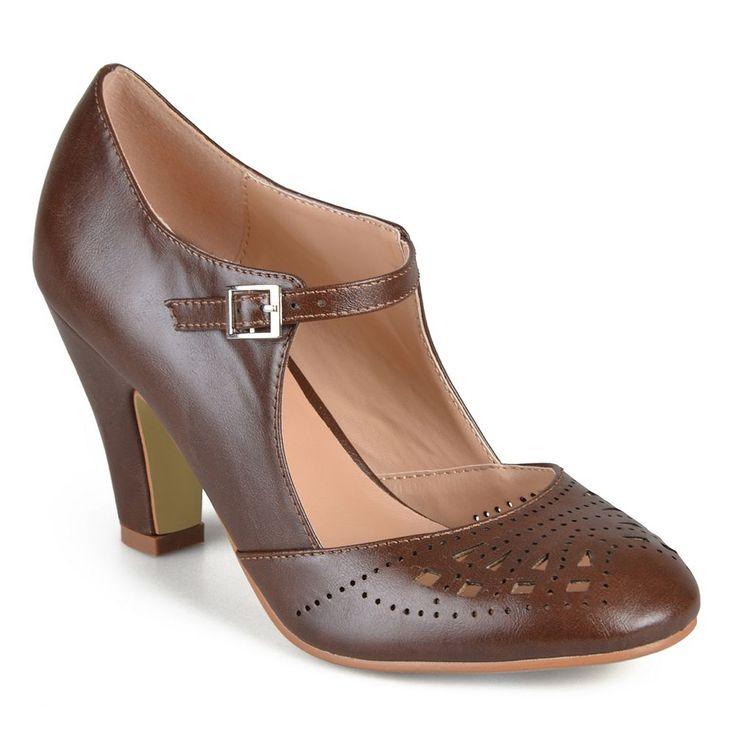 Journee Collection Elsa Women's Mary Jane Heels, Size: medium (7.5), Brown