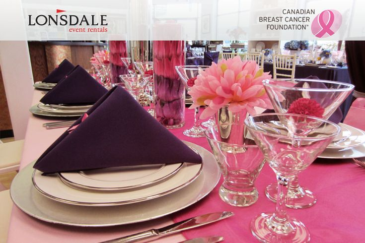 Like what you see on this table set-up? Visit www.lonsdaleevents.com to replicate. Not sure what's what? Check out the rest of the Canadian Breast Cancer Foundation board for a list! pinterest.com/lonsdalerentals/canadian-breast-cancer-foundation: Breast Cancer, Foundation Board, Pink Tablescapes, Cancer Foundation, Cancer Awareness, Visit Www Lonsdaleevents Com, Pink Ribbons