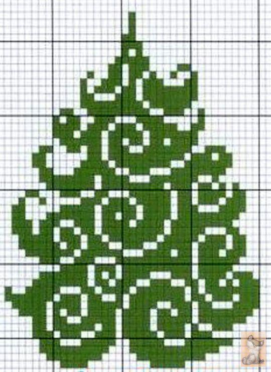 GREEN CHRISTMAS TREE CROSS STITCH