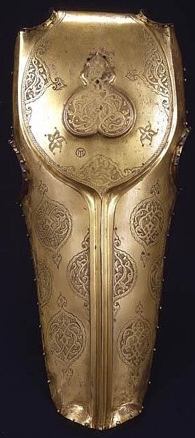 Ottoman chamfron (armor for a horses head) with St. Irene arsenal mark. Stibbert Museum, Florence Italy.