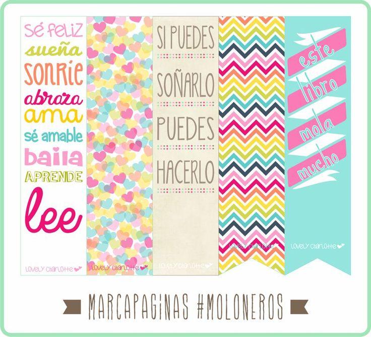 Lovely Charlotte - Marcapáginas imprimibles gratis