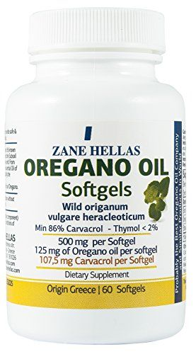 Zane Hellas Oregano Oil Softgels Concentrate 41 Provides 1075 mg Carvacrol per Serving Softgels Capsules Oil of Oregano by ZANE HELLAS *** To view further for this item, visit the image link. (Note:Amazon affiliate link)