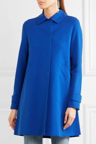 Harris Wharf London - Loden Pleated Stretch Cotton-blend Coat - Royal blue - IT48