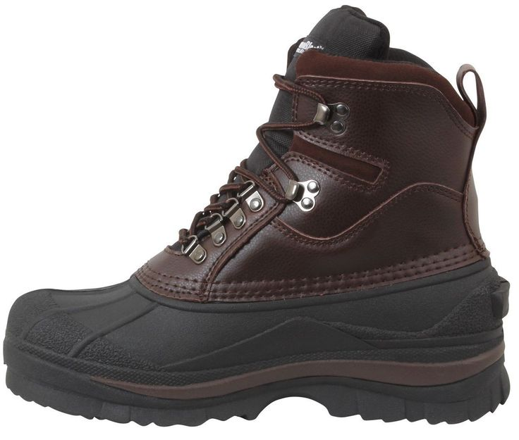 """8"""" Cold Weather 100% Waterproof Hiking Boots - Black Or Brown Winter Snow Boot"""