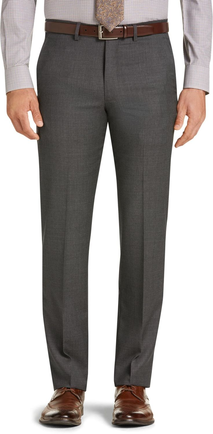 Traveler Collection Slim Fit Micro Check Suit Separate Dress Pants - Big & Tall