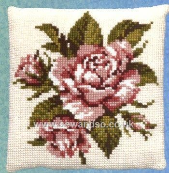 Buy+Roses+Cushion+Front+Chunky+Cross+Stitch+Kit+Online+at+www.sewandso.co.uk