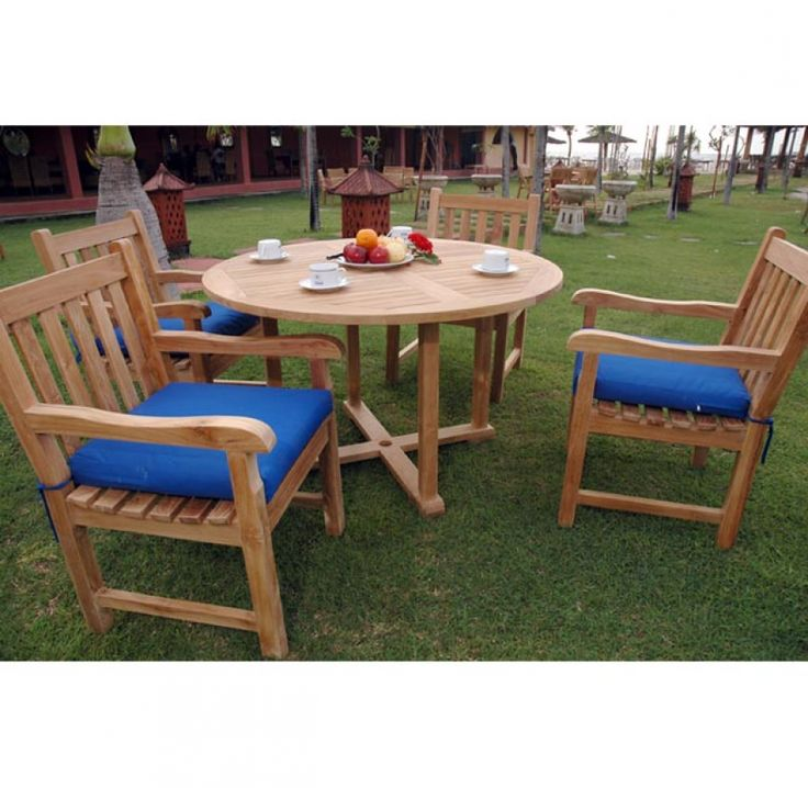 Tosca Round Teak Patio Furnishings Dining Set · Furniture CareTeak ...