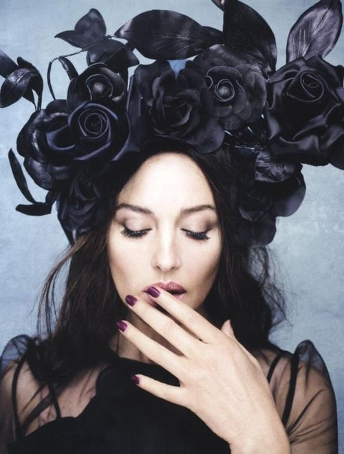 The gorgeous Monica Bellucci plays a goddess for Rankin in Hunger. Ph. Rankin.