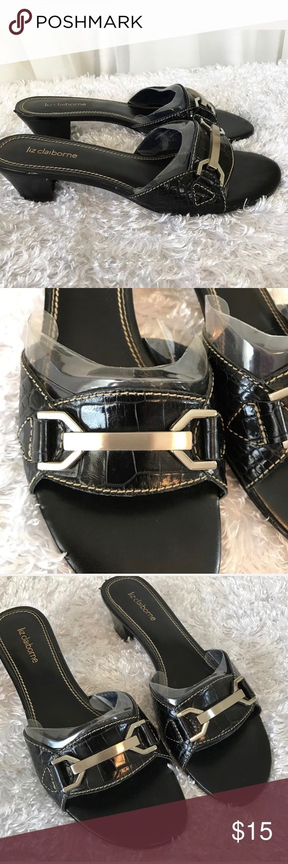 Liz Claiborne Black Slip On Heels 8.5 New without box 8.5 Medium Width   I ship Monday through Saturday, weather permitting. If you have a moment check out my other items. Thank you! Liz Claiborne Shoes Heels