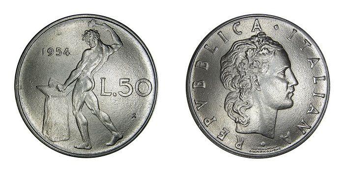 Valore Moneta 50 Lire