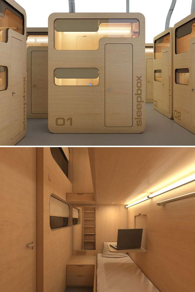 tres cool...sleep and rest pod designed for airports