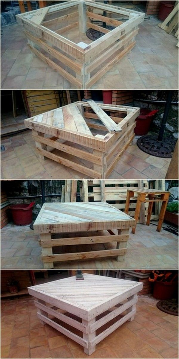 Building A Floor Cabinet From Pallets Wooden Pallet Projects