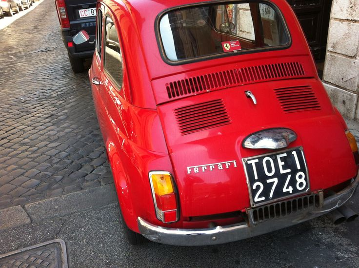 The smallest Ferrari ever. Seen in Rome.
