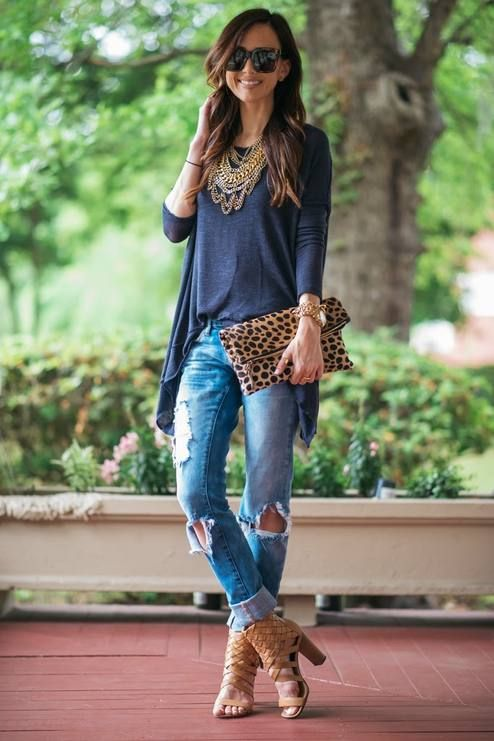 Open Back Sweater Outfit Idea  # #Sequins