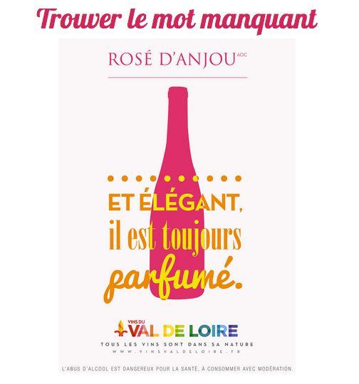 [Devoirs de Vacances] Trouvez le mot manquant pour le Rosé d'Anjou : ____ et élégant, il est toujours parfumé. Et poursuivez sur notre jeu #1vin1caractère par ici https://www.facebook.com/VinsdeLoire/app_190322544333196