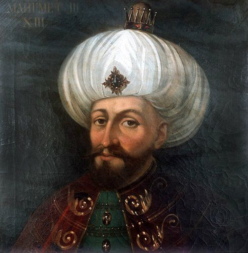 Sultan Mehmed III, 1595-1603, portrait in the Topkapi Palace Museum, Istanbul, Turkey