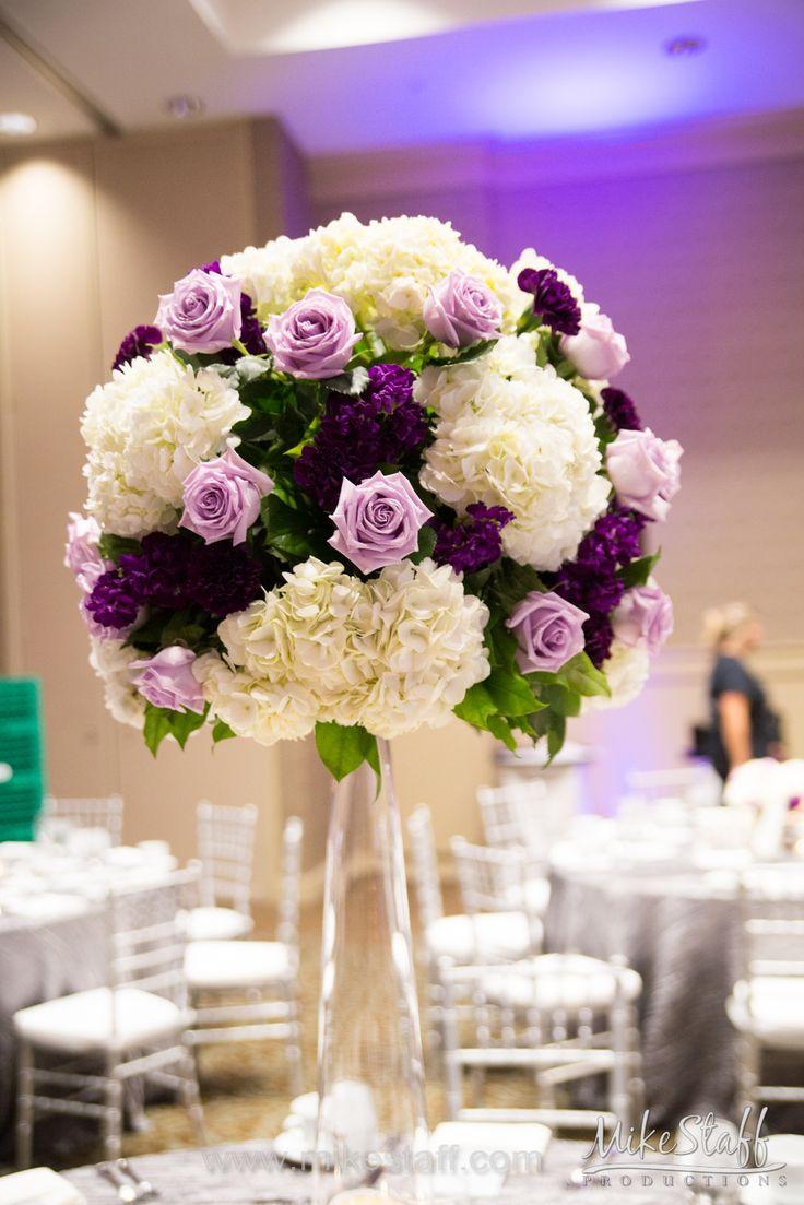 black white purple wedding reception%0A  decorations  centerpieces  tablescapes  receptiondetails  Michiganwedding   Chicagowedding  MikeStaffProductions  wedding