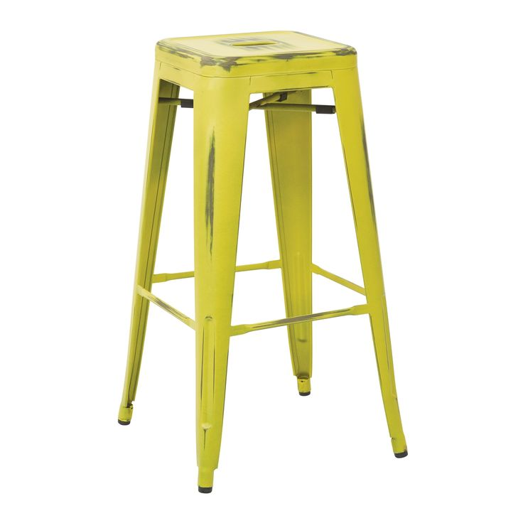 Office Star Products Bristow Antique//Rubber 30-inch Vintage Modern Sheet Cafe Bistro Bar Stools