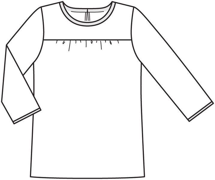 Блуза - выкройка № 404 из журнала 2/2012 Burda. Мода для полных – выкройки блузок на Burdastyle.ru
