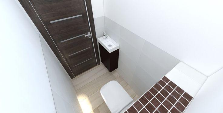 Vizualizácia kúpeľne s obkladmi RAKO - Wenge. Dlažba RAKO - Board