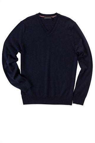 Merino Wool V-Neck Knit #merinowool #sweater