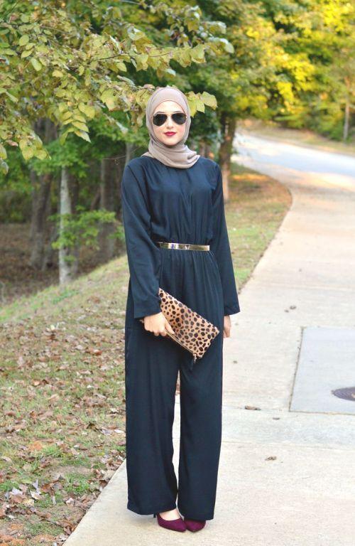 jumpsuit hijab look