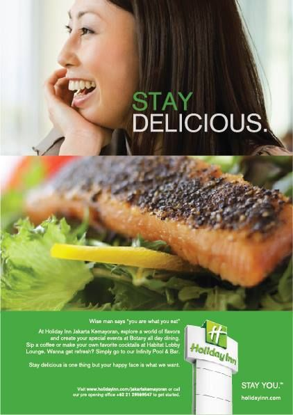 """Wise man says """"you are what you eat""""  At Holiday Inn Jakarta Kemayoran, explore a world of flavors  and create your special events at Botany all day dining.  Sip a coffee or make your own favorite cocktails at Habitat Lobby Lounge. Wanna get refresh? Simply go to our Infinity Pool & Bar.   Stay delicious is one thing but your happy face is what we want."""