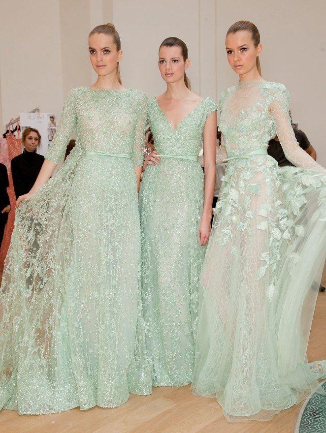 Мятный цвет | Платье мятного цвета