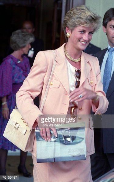 News Photo : London July 4, 1993 Princess Diana at Wimbledon...