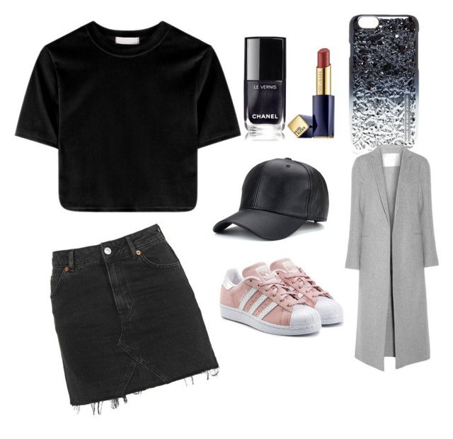 """Casual"" by fpantopikou on Polyvore featuring Topshop, adidas Originals, Estée Lauder, Marc by Marc Jacobs and ADAM"