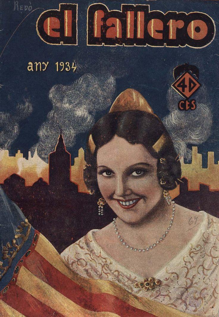Cubierta de la revista El fallero,  nº 14, año 1934