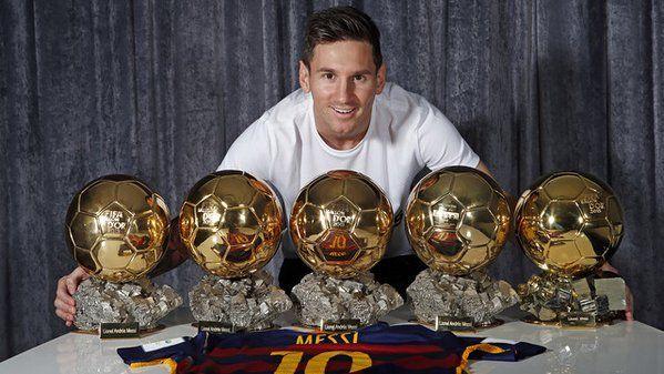 5 #ballondor | messi y sus 5 balones de oro | new hero for the children #messi5