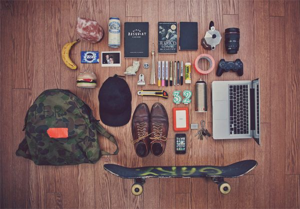 Justin Broadbent  Justin Broadbent is an artist based in Canada. Judging by his collection of items military bag, Justin is a fan of coffee and skateboarding. It's highly likely that he's 32 years old and dabbles with different mediums of art.