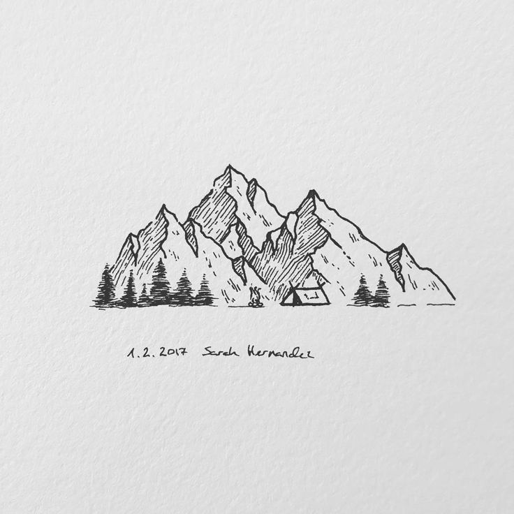 how to draw a mountain kids
