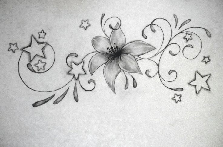 lily tattoo by Zmei944.deviantart.com on @deviantART .....but needs color. Lower back?
