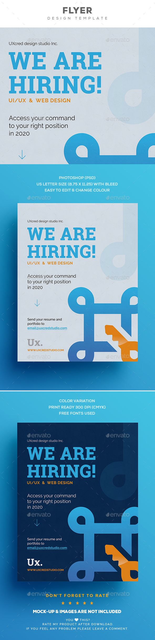 hiring flyer template free