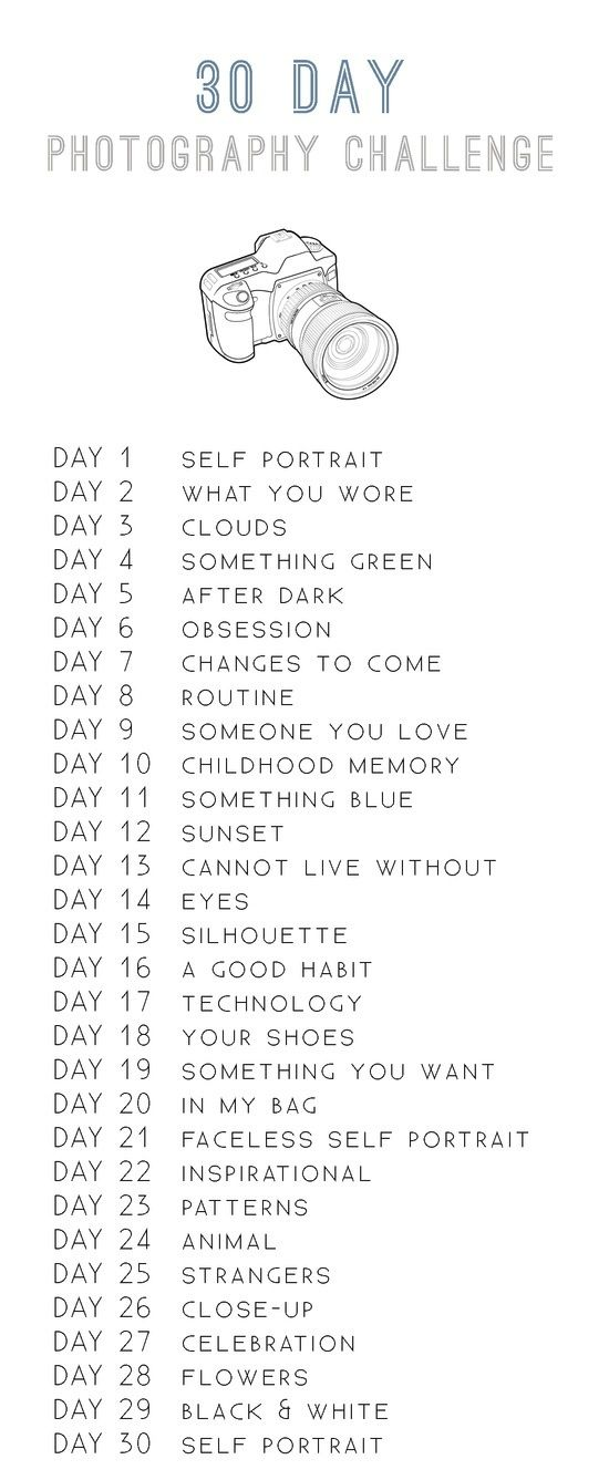 "Im a Geek Man: 30 Day Photography Challenge. I wanna do this as an ""art"" project for the apartment."