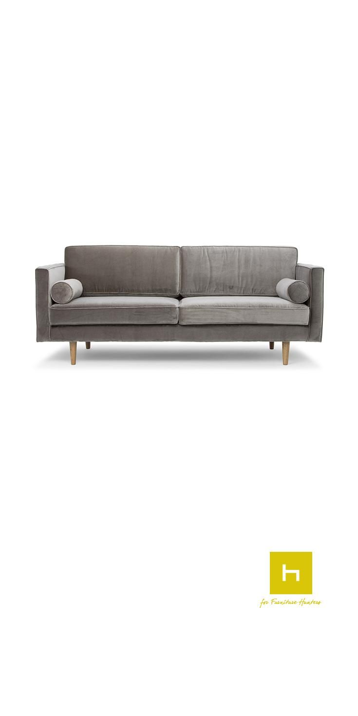 The Ritchie Sofa by Scandinavian Design is a elegant piece which has been paired with stunning bolster cushions.  The Scandinavian Design movement is defined by simplicity, minimalism and functionality. Sharing its origin with the modernist movement it focuses on beautiful and functional everyday objects. #design #furniture #sofa #loungesuites #interiordesign