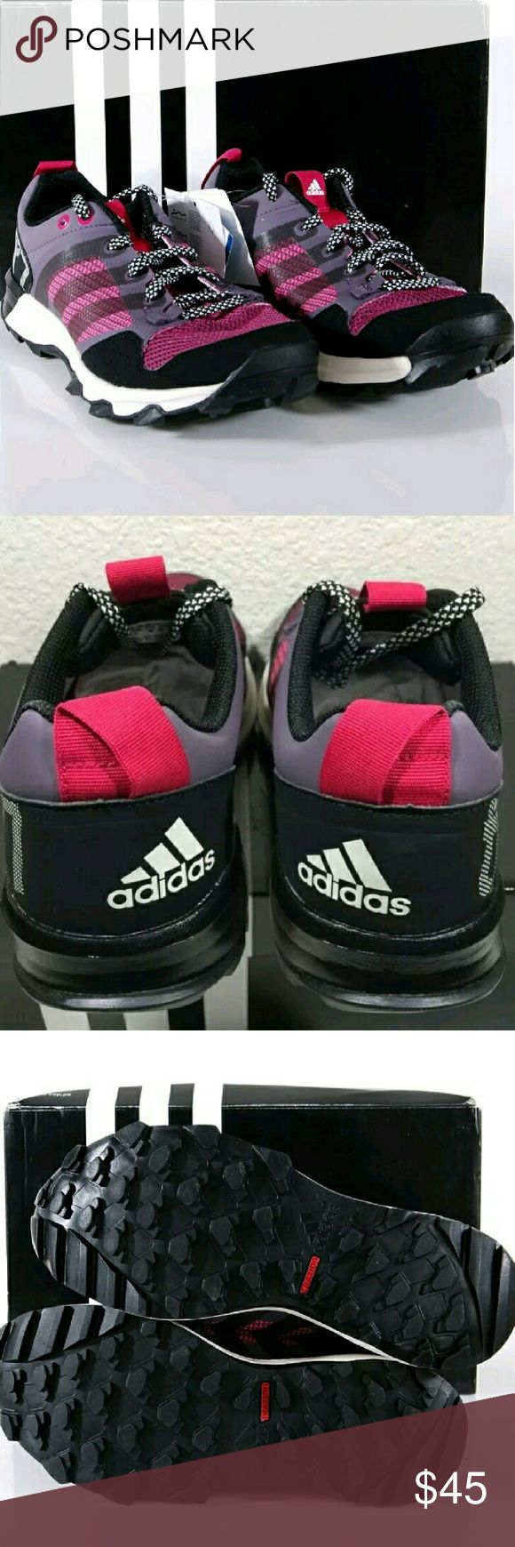 New Adidas Trail Running Shoes sz 8 New without box. I purchased the wrong size. These are ash purple and hot pink. Adidas Shoes Athletic Shoes