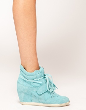 Enlarge Ash Bowie Turquoise Wedge Trainers